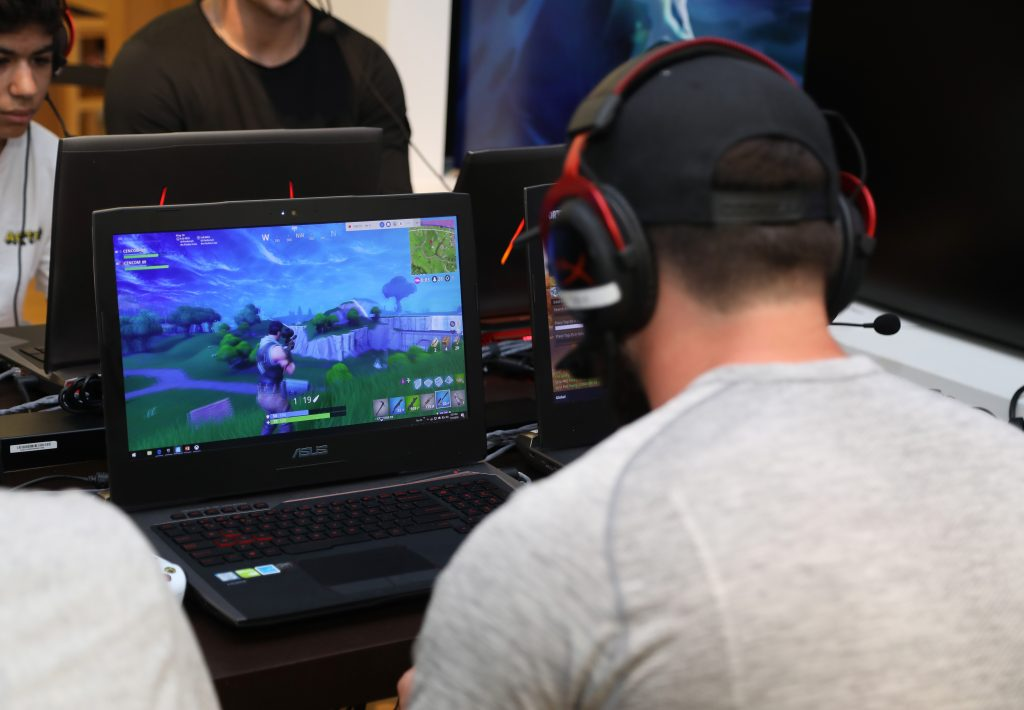 NFL player Baker Mayfield participates in the Microsoft Stores Pro Player Charity Fortnite Duos Tournament. (Photo courtesy of Getty Images)