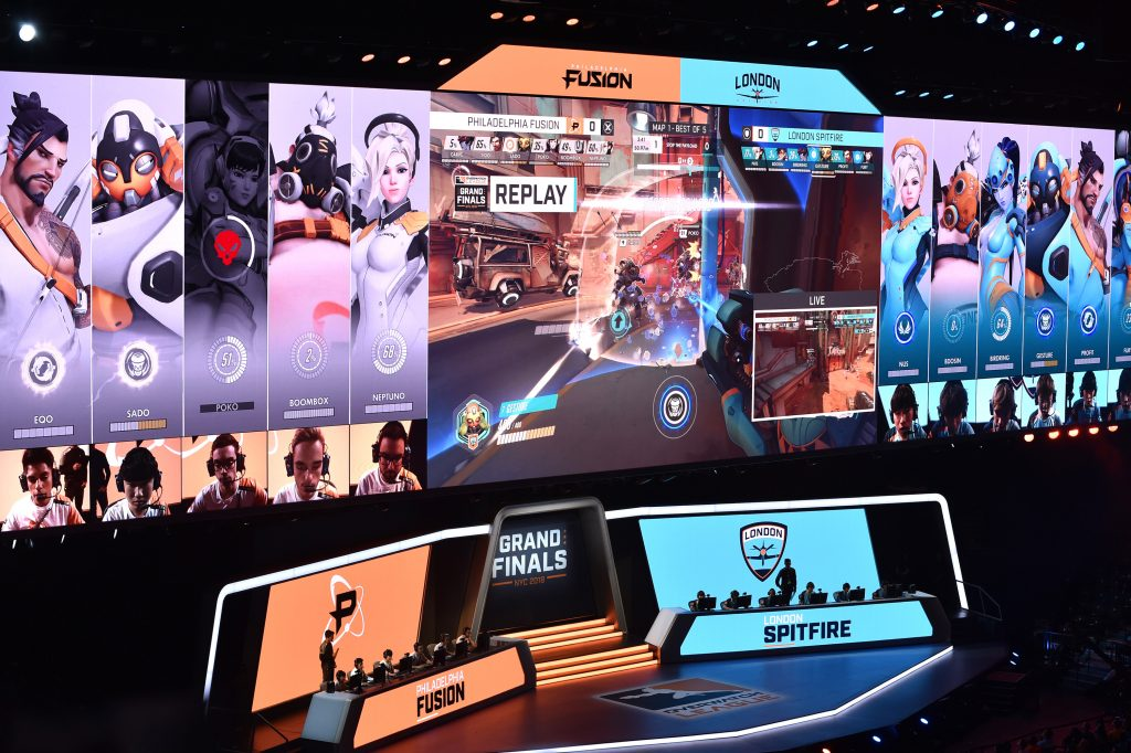 Philadelphia Fusion play London Spitfire during Overwatch League Grand Finals. (Photo by Bryan Bedder/Getty Images for Blizzard Entertainment)