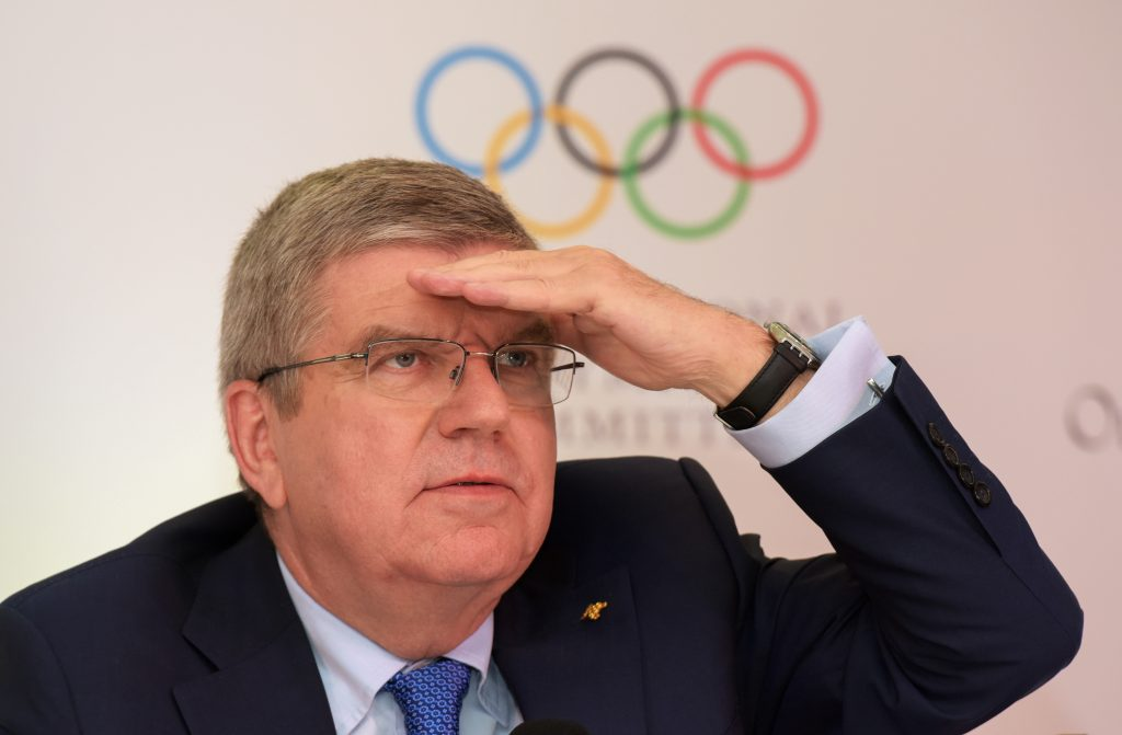 "IOC chief Thomas Bach insisted April 19 that ""killer"" computer games would never be part of the Olympics. (Getty Images)"