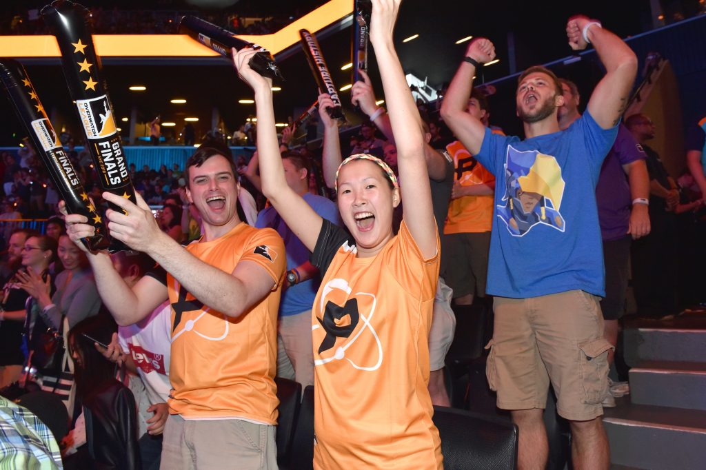 The crowd is seen at Overwatch League Grand Finals - Day 1 at Barclays Center on July 27, 2018 in New York City. (Photo courtesy of Getty Images)