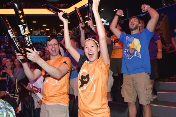 The crowd is seen at Overwatch League Grand Finals in New York City. (Photo courtesy of Getty Images)