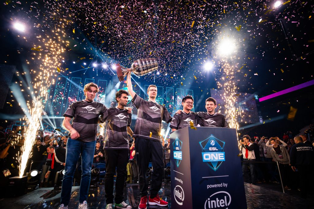 After a back-and-forth Grand Finals, Team Secret came away with the win at ESL One Hamburg (Copyright: ESL | Adela Sznajder)