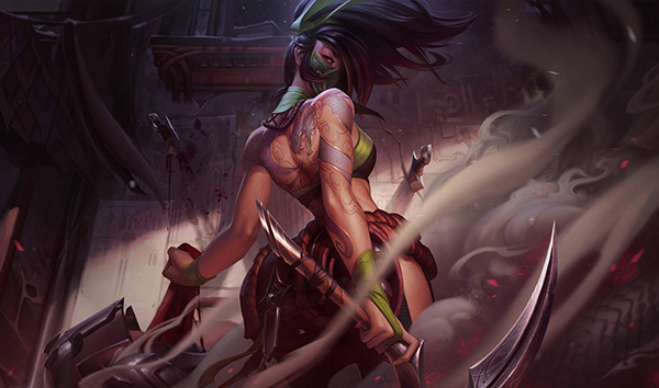 Enemy champions do not have a lot of options if Akali commits to the chase (Image via Riot Games)