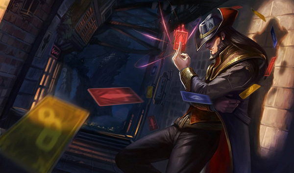 Twisted Fate doesn't necessarily dominate 1v1 but is a consistent, safe champion for solo queue (Image via Riot Games)