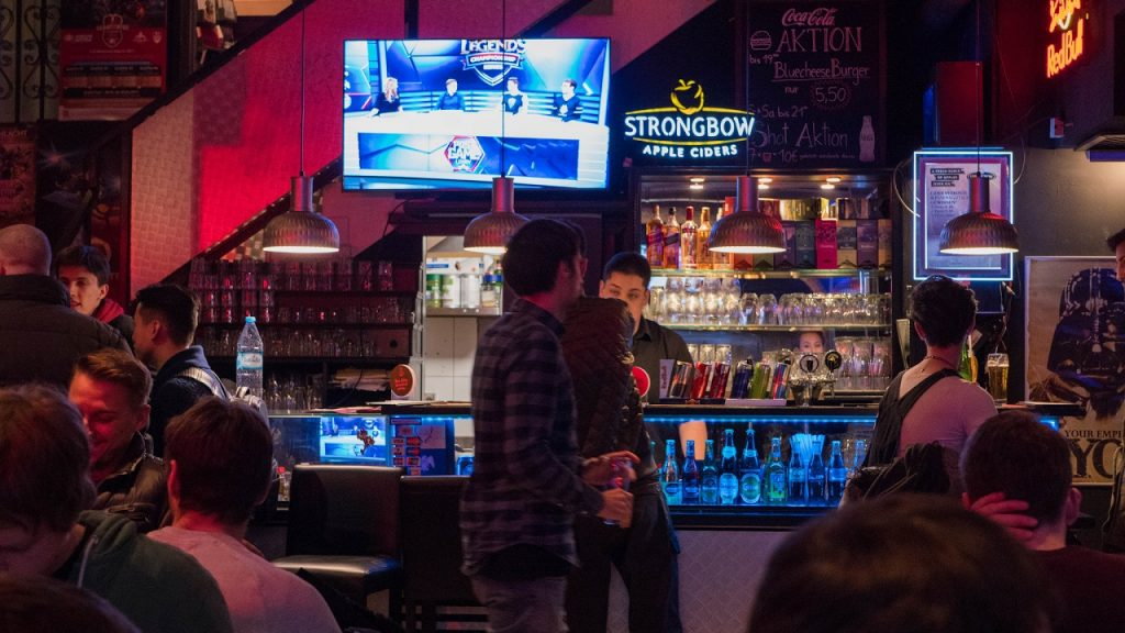 Just like any other sports fan, esports fans like to get together to watch the big game (Photo courtesy of Non-Fiction Gaming)