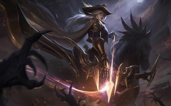 league of legends bot adc ashe high noon skin
