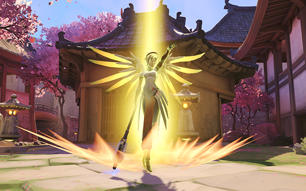 The ability to resurrect fallen Heroes has defined Mercy as a hero since Overwatch's launch (Image via Blizzard Entertainment)