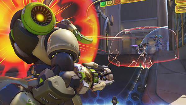 Orisa's shield can be much easier to use for newer players compared to other main tanks Heroes (Image via Blizzard Entertainment)