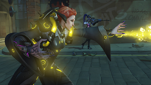 Moira's versatility makes her an excellent support Hero at all levels of play (Image via Blizzard Entertainment)