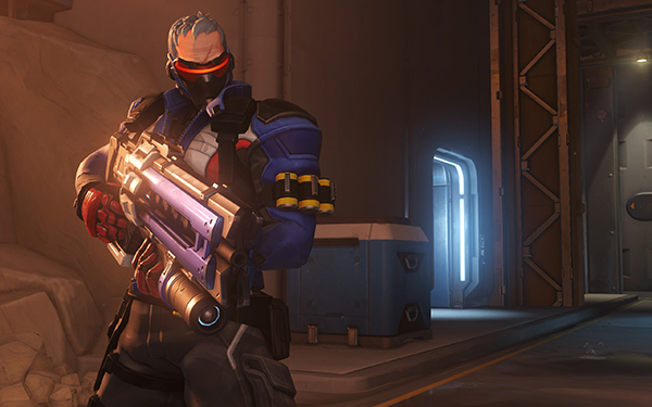 Soldier 76's straightforward abilities, makes him one of the perfect DPS Heroes in Overwatch (Image via Blizzard Entertainment)