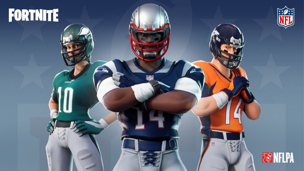 There will be three female and three male skins for each NFL team.
