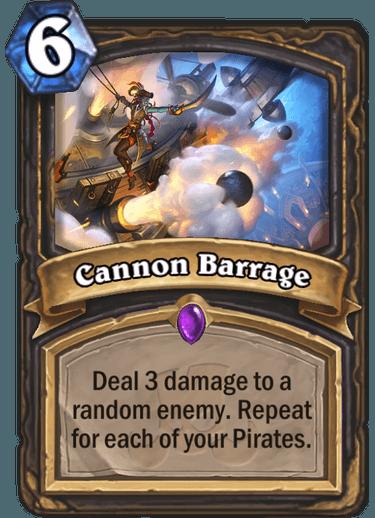 Hearthstone cannon barrage