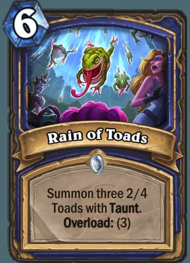 Hearthstone rain of toads