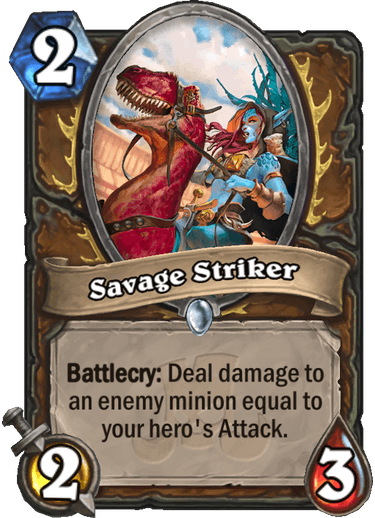 Hearthstone savage striker