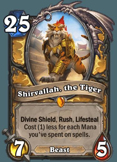 Hearthstone Shirvallah, the tiger