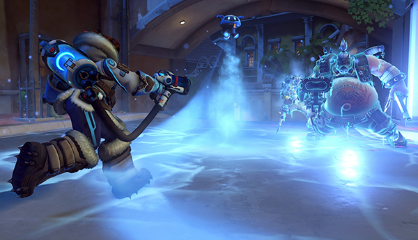 Mei's ability to freeze enemies makes her great for new Overwatch players (Image via Blizzard Entertainment)