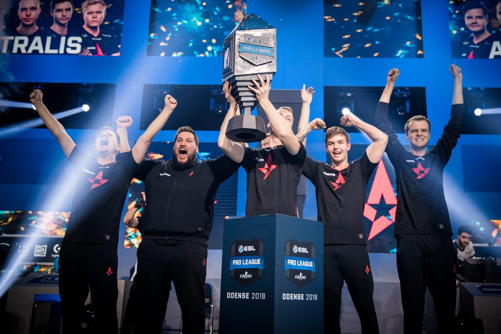 Astralis managed to win the ESL Pro League season 8 finals and the Intel Grand Glam in one night, earning them $1.25 million. (Photo courtesy of Helena Kristiansson | ESL)