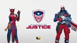 Embracing Red, White and Blue, Washington Justice Arrive
