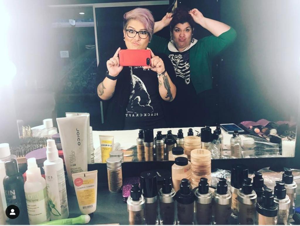 Rosa Menendez and Lorena Acevedo esports makeup artists