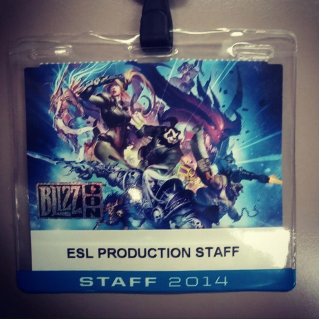 BlizzCon 2014 staff badge