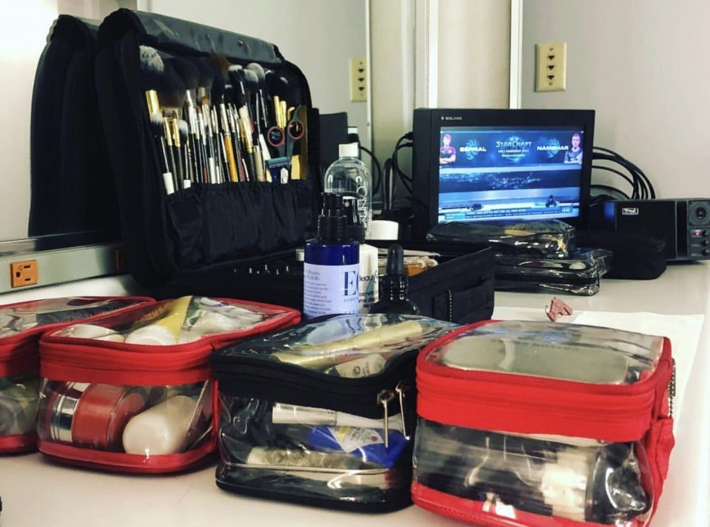 Makeup bags for esports events