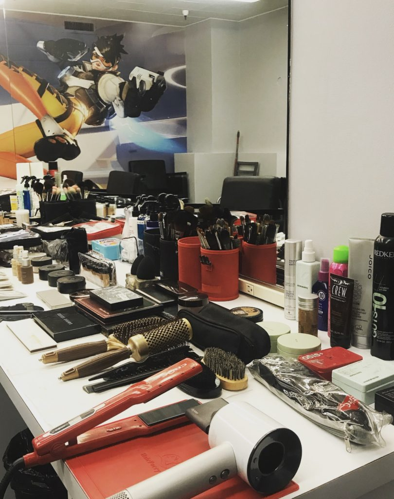 makeup set-up for overwatch league