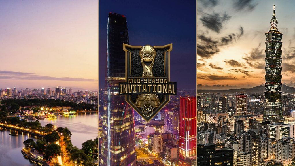 MSI will being with the Play-In Stage in Hanoi, then the Group Stage in Ho Chi Minh City before ending in Taipei for the Semifinals and Finals.