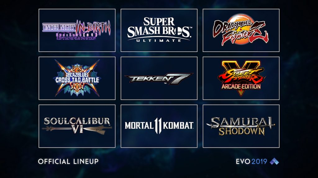 Evo 2019 has officially unveiled the lineup of titles that will see the best fighting game competitors on the world do battle for supremacy.