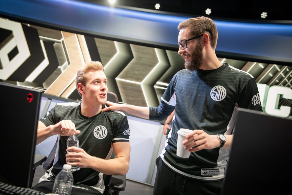 TSM celebrate after yet another victory in the LCS.