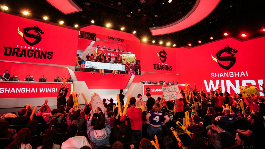 Shanghai Dragons win in front of a celebrating crowd.