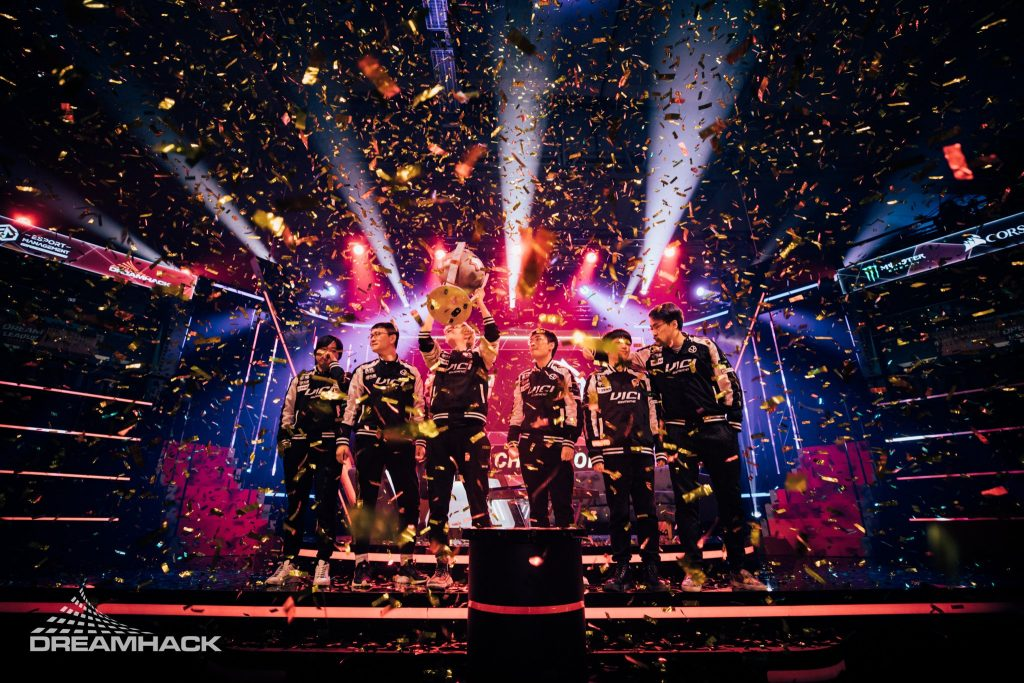 Vici Gaming take home the trophy at the DreamLeague Season 11 Major. (Photo courtesy of DreamHack)