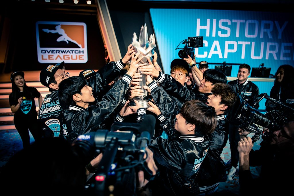 Winning tournaments isn't a significant source of revenue for esports organizations, but it can motivate more merchandise sales. (Photo courtesy of London Spitfire/Cloud 9)