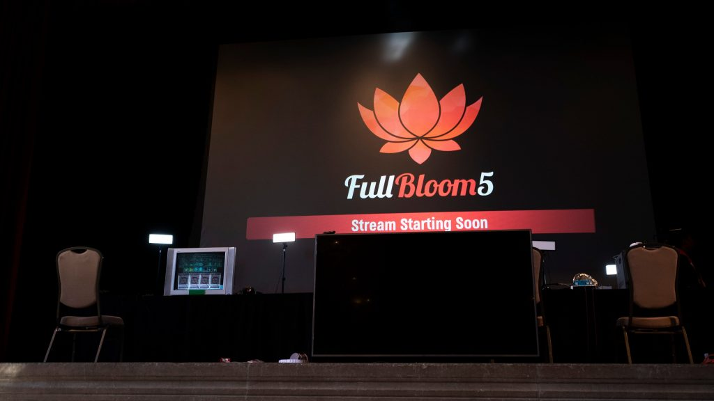 Full Bloom 5 had some great Smash Singles and Doubles action for both Melee and Ultimate. (Photo courtesy of @BTSsmash/Twitter)