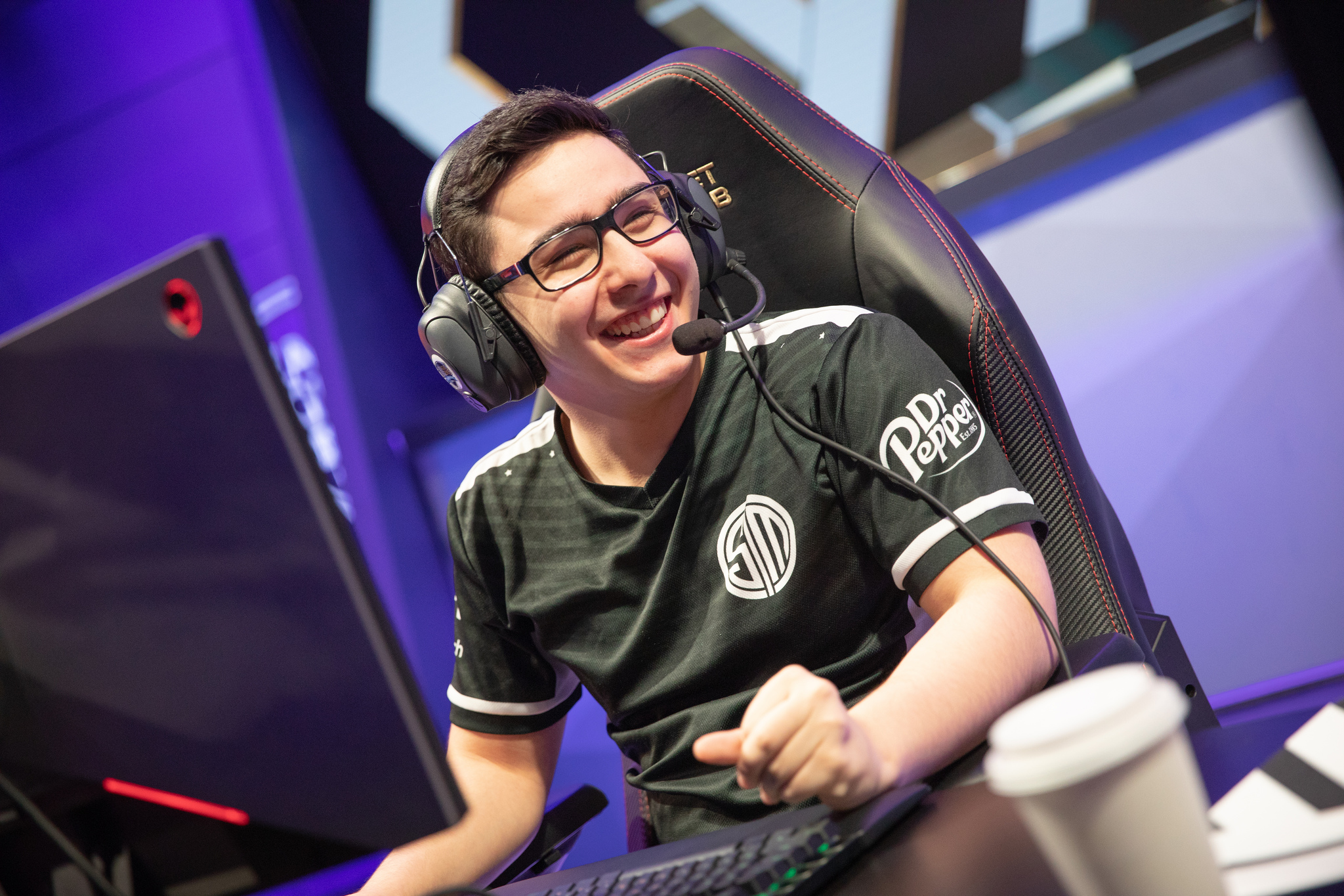 Broken Blade of TSM celebrates after a win.