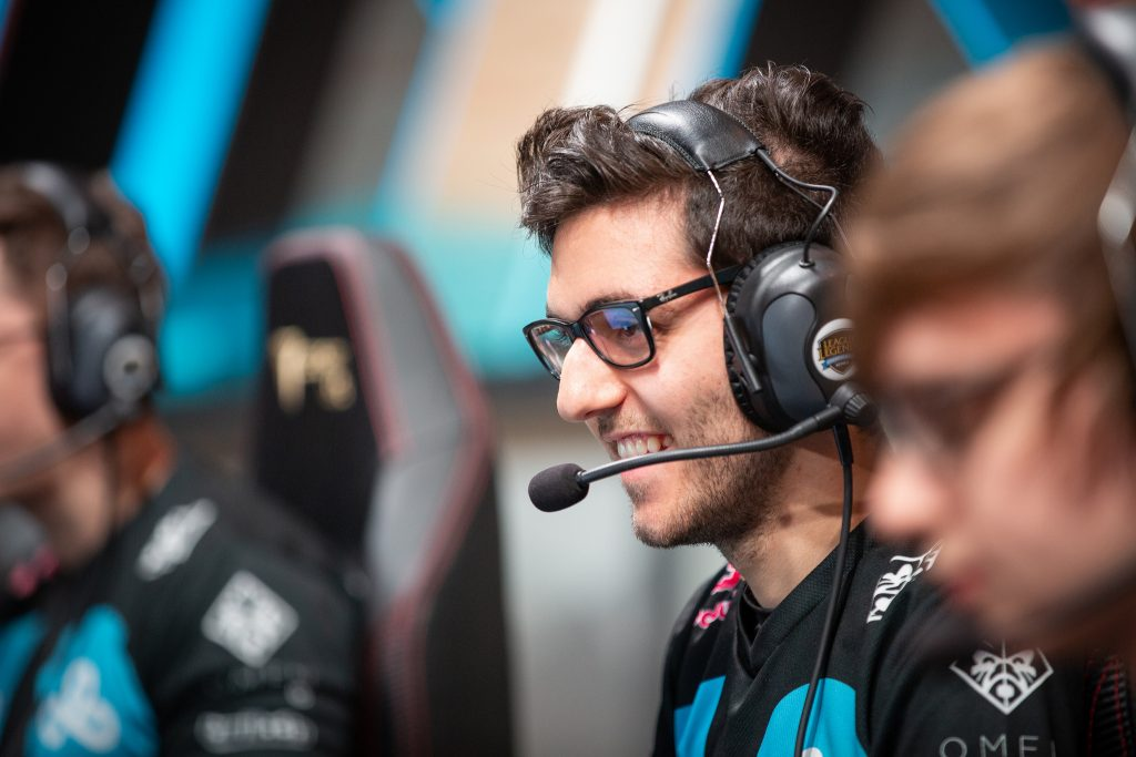 C9 player smiles as they take a victory in the LCS.