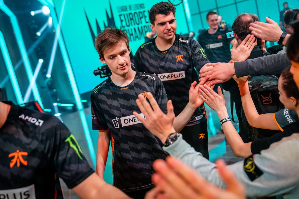 Fnatic had little problems in the LEC Spring Playoff quarterfinals, sweeping Team Vitality 3-0. (Photo courtesy of Riot Games)