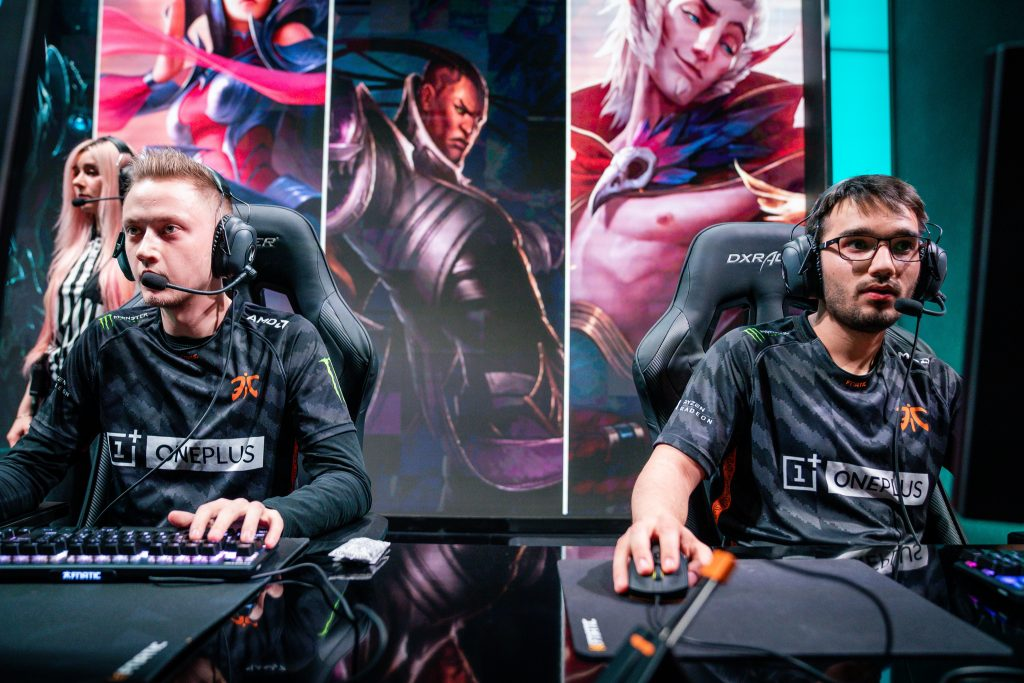 Fnatic locked up the second seed entering the LEC Spring Playoffs in the final week of the regular season. (Photo courtesy of Riot Games)