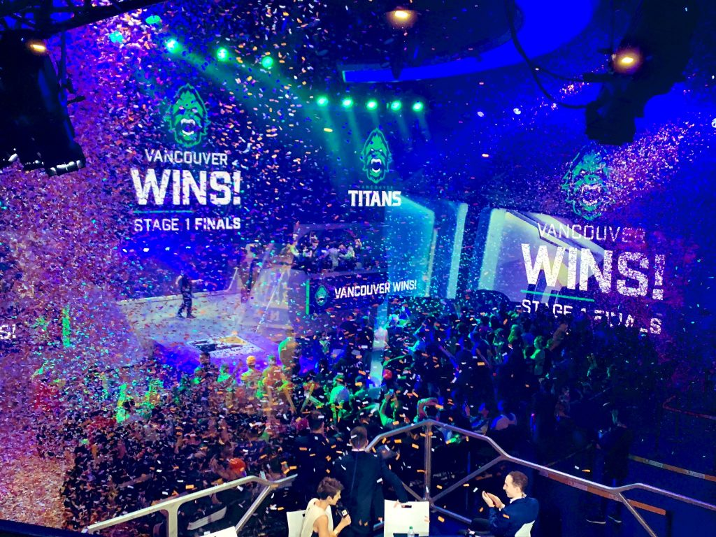 The Vancouver Titans are the first Stage champions in OWL's second season. (Photo courtesy of @VancouverTitans/Twitter)