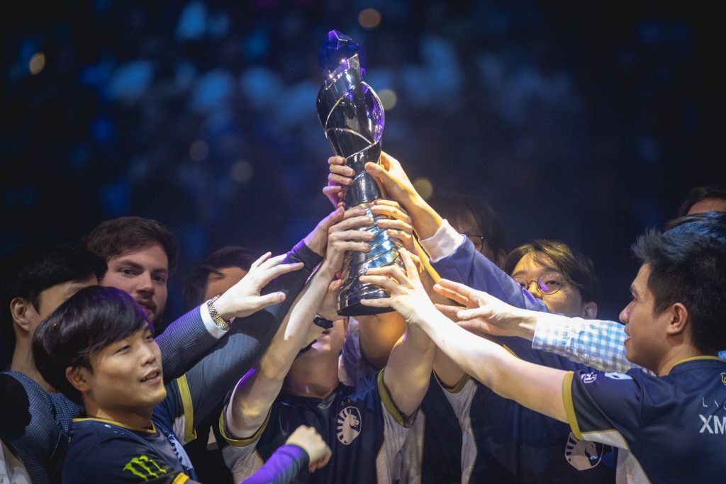 Team Liquid at the LoL Legends Championship Series Spring Finals at Chaifetz Arena on April 13, 2019 in Saint Louis, Missouri. (Photo by Colin Young-Wolff/Riot Games)