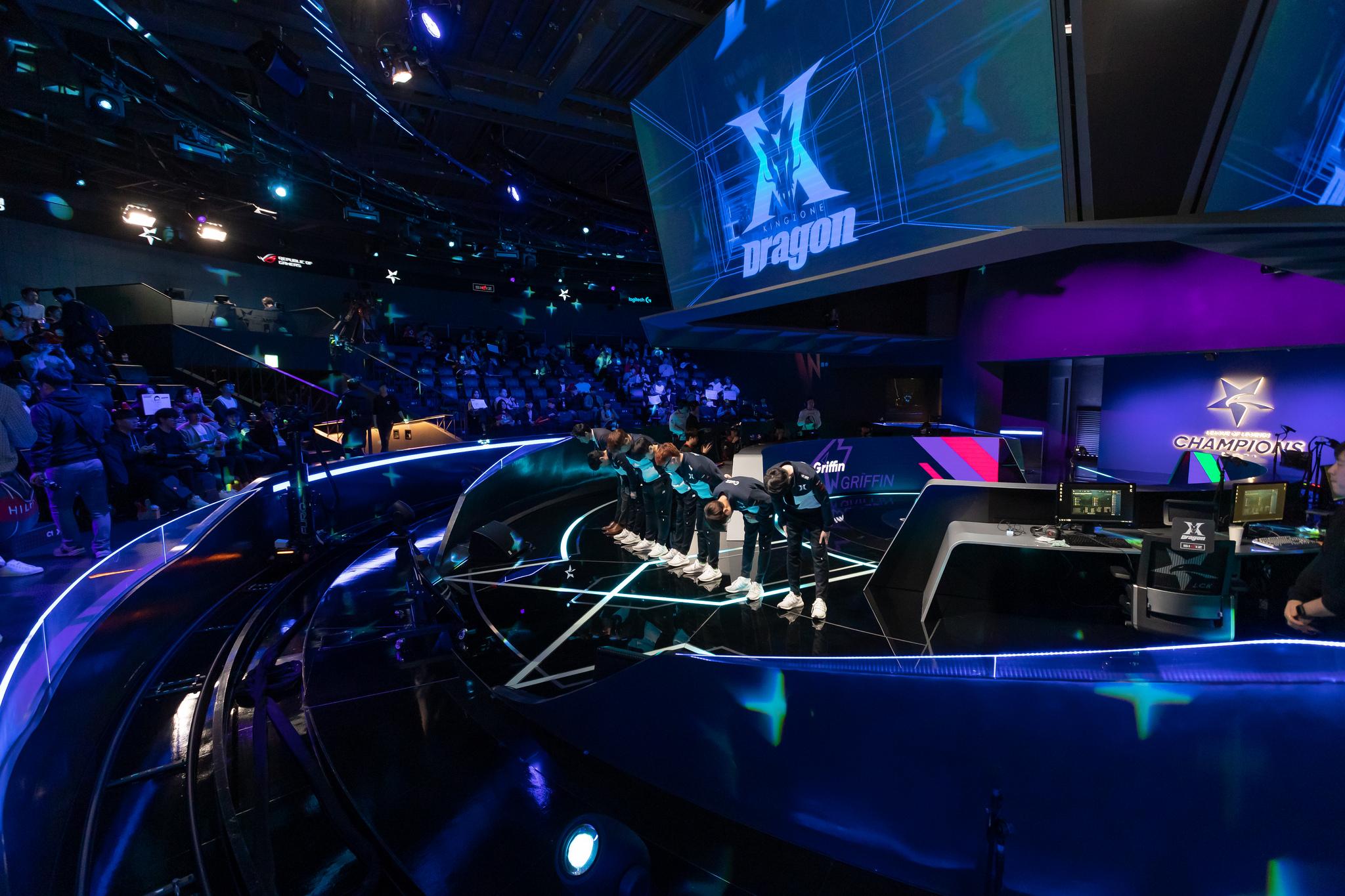 LCK stage DragonX