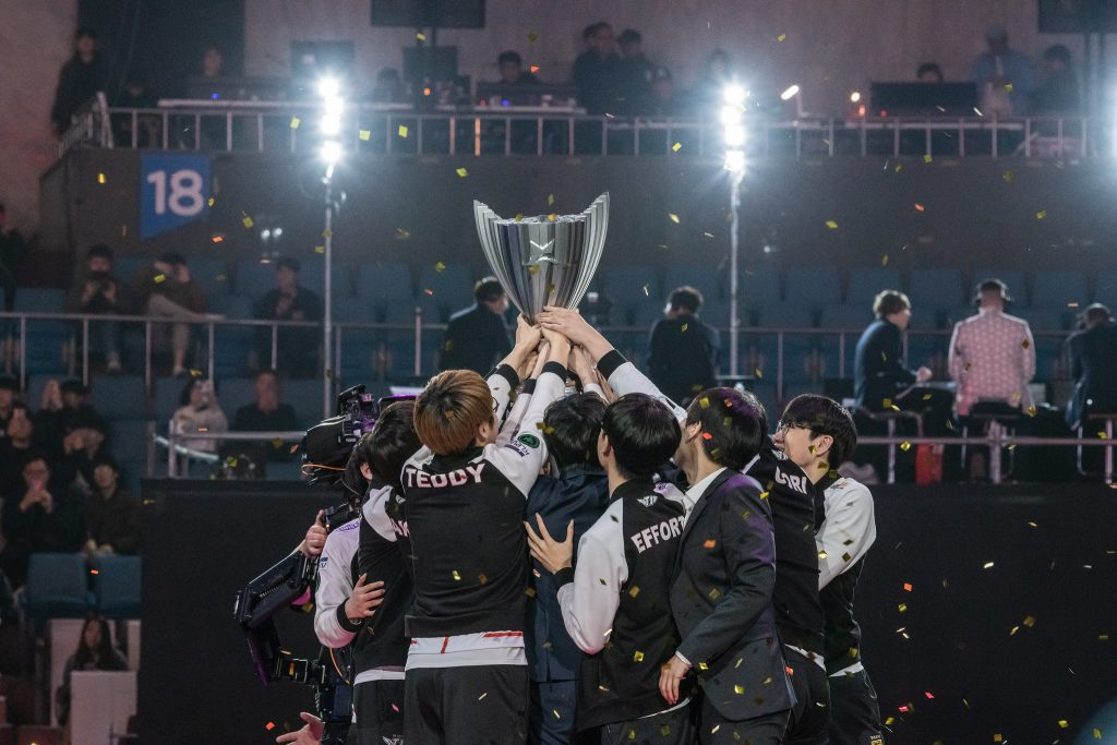 SK Telecom T1 took home the trophy in the LCK Spring Split. (Photo courtesy of League of Legends Champions Korea LCK / Flickr)