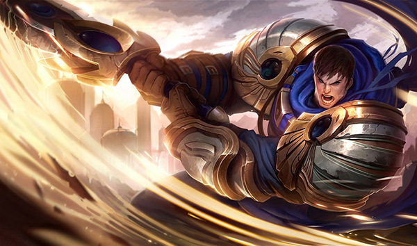 Due to his passive healing and his strong burst damage, Garen is a great LoL champion for beginners (Image via Riot Games)