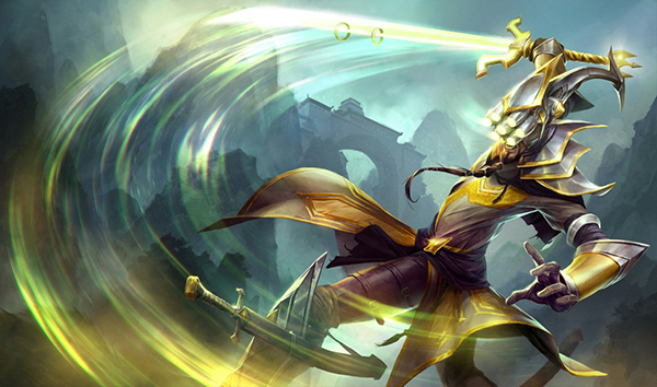 Master Yi has a lot of movement speed and damage but is compensated by his lack of health (Image via Riot Games)