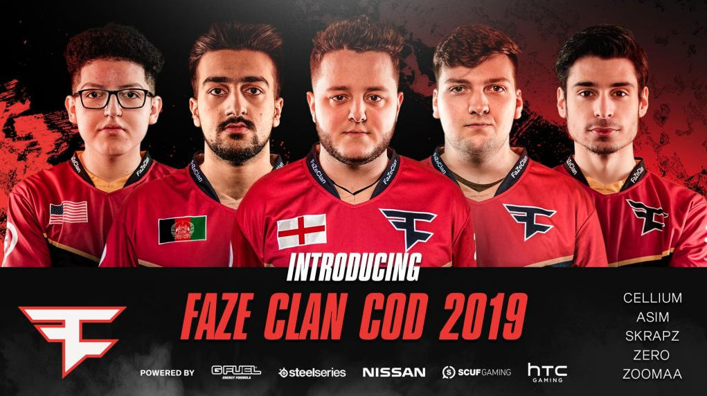 The new FaZe Clan Call of Duty roster will occupy the Red Reserve CWL slot. (Image courtesy of FaZe Clan)