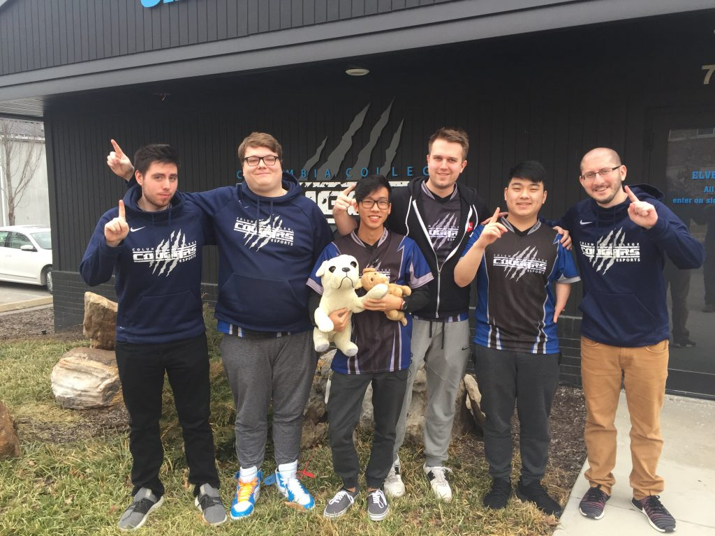 The Columbia Cougars are among our early favorites for qualification to the LoL College Championships. (Photo courtesy of @Cougar_eSports / Twitter)