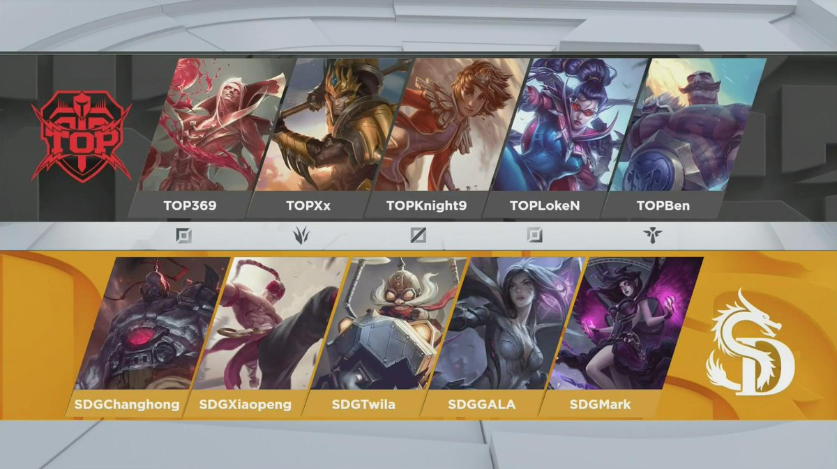 Team comps for Game Three of Topsports vs SinoDragon (Image courtesy of LPL)