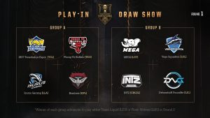 MSI 2019 Play-In Group Stage Draw Results