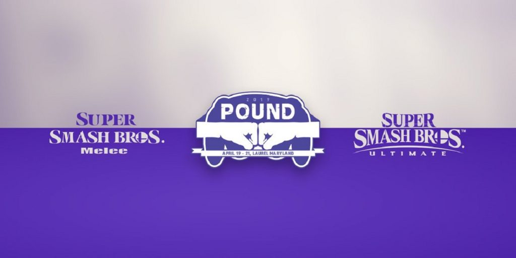 Pound 2019 runs April 19-21 and will feature Super Smash Bros. Melee and Ultimate. (Image courtesy of Pound)