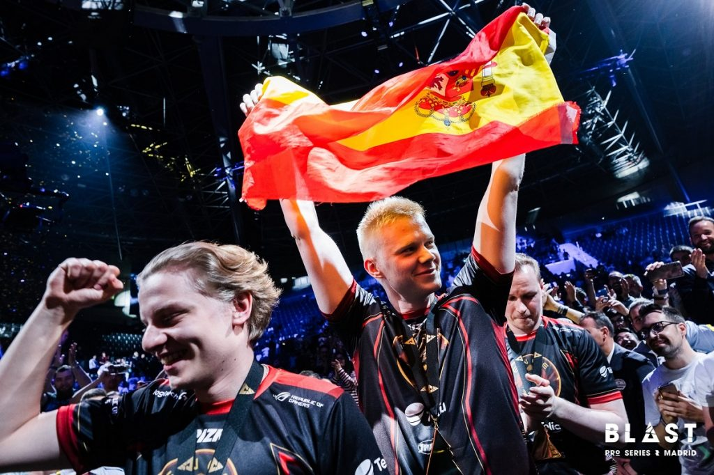 "Jani ""Aerial"" Jussila led ENCE to a 2-0 win over Astralis to claim the BLAST Pro Series crown in Madrid, snapping their rival's 31-game win streak on Nuke in the process. Image via BLAST Pro Series."