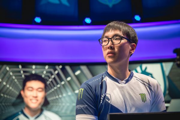 Yiliang ?Doublelift? Peng has faced the pressure of choking after failure at Worlds mounted up against the NA bot laner. (Image via Riot Games)